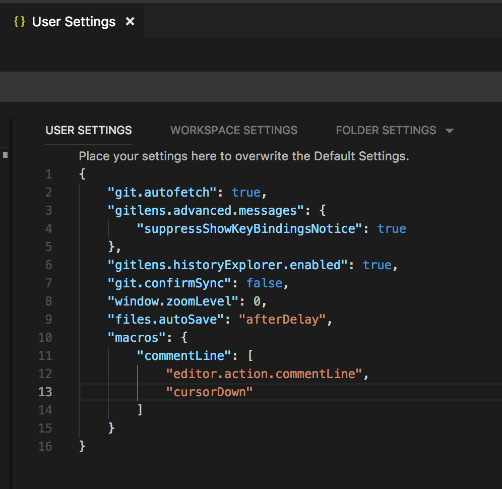 Making VSCode like IntelliJ after line commented the cursor